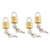 Samsonite Brass Key Lock Set of 4