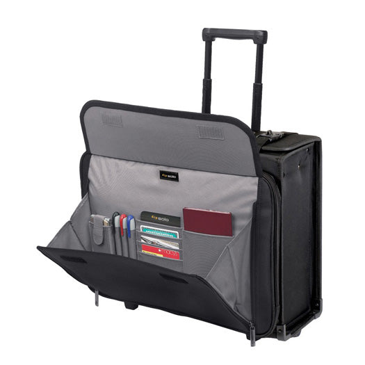 Solo B151-4 Rolling Laptop Catalogue Case with hanging file