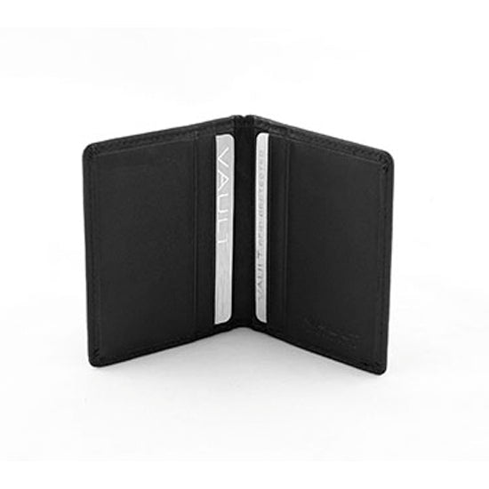 Vault RFID Men's Leather Slimline Credit Card Holder