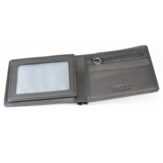 Vault RFID Men's Leather Wallet with Top Flap