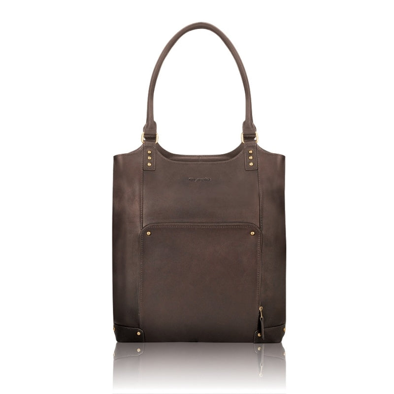 "Solo Executive 16"" Leather Bucket Tote"