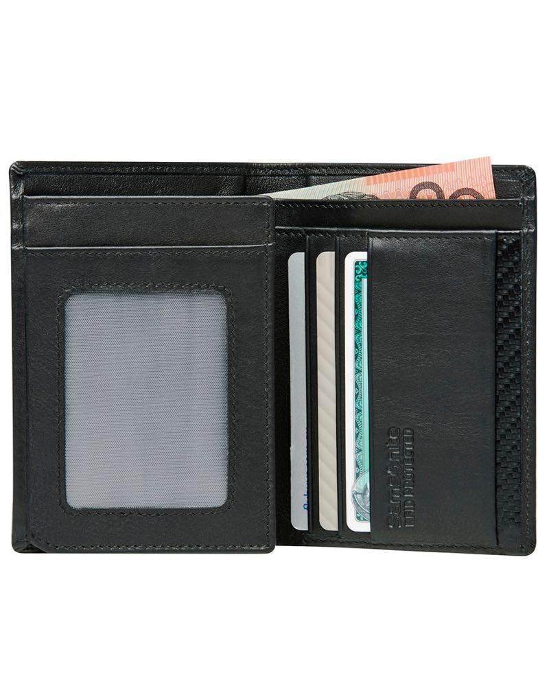 Samsonite DLX Leather Wallet - ID with 4 RFID Credit Card Slots