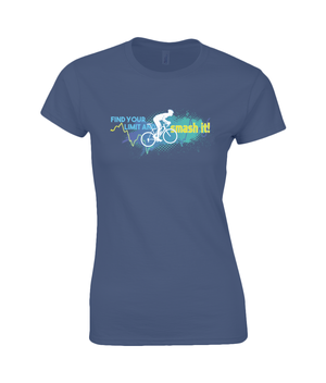 Find Your Limit - Ladies Premium Cotton T-Shirt - Blue & Green