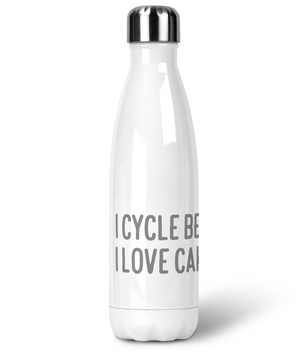 Premium Stainless Steel Water Bottle - I Cycle Because I Love Cake