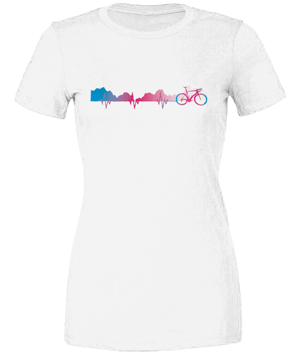 Elevation vs Heartbeat - Ladies T-shirt - Blue & Pink