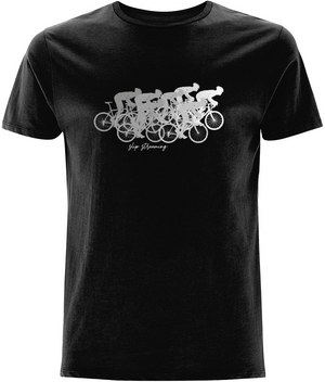 Slip Streaming Cycling Organic Cotton T-Shirt - White Design