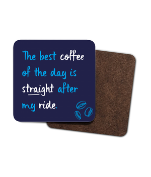 The post-ride coffee is best! - 4 Pack Hardboard Coaster Set