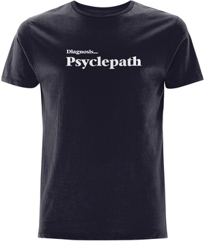 Psyclepath Organic Cotton T-Shirt Cycling Designs