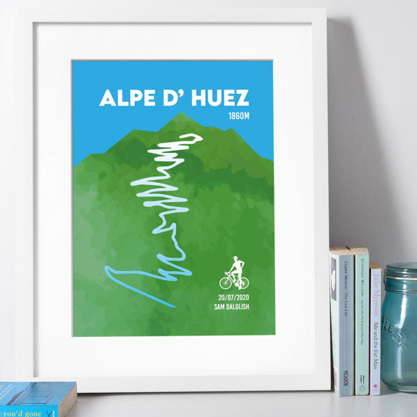 Framed Print - Personalised Alpe D' Huez