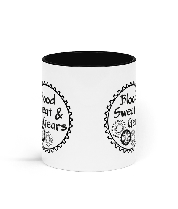 Blood Sweat & Gears Two Toned Ceramic Mug for Cyclists