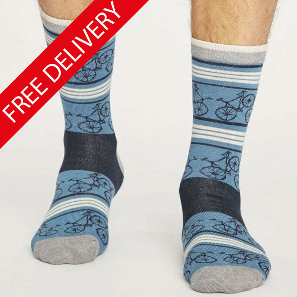 Men's Bicycle Bamboo Socks - size 7-11