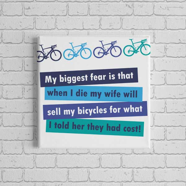 Canvas Print - Cyclists Biggest Fear - 4 sizes