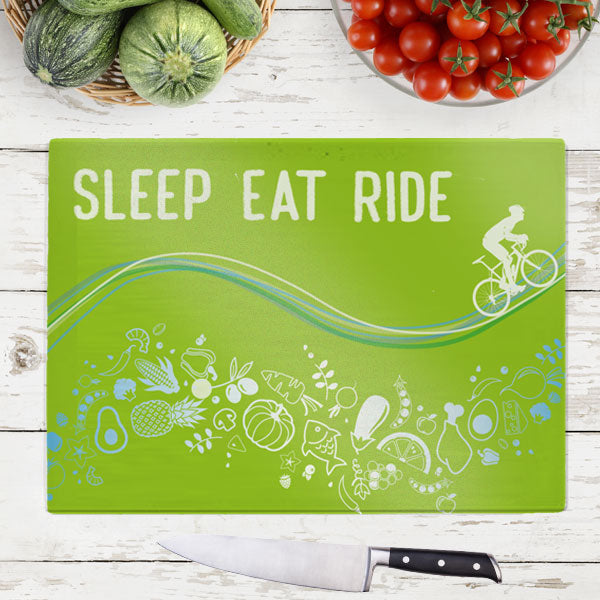 Tempered Glass Chopping Board - Sleep Eat Ride