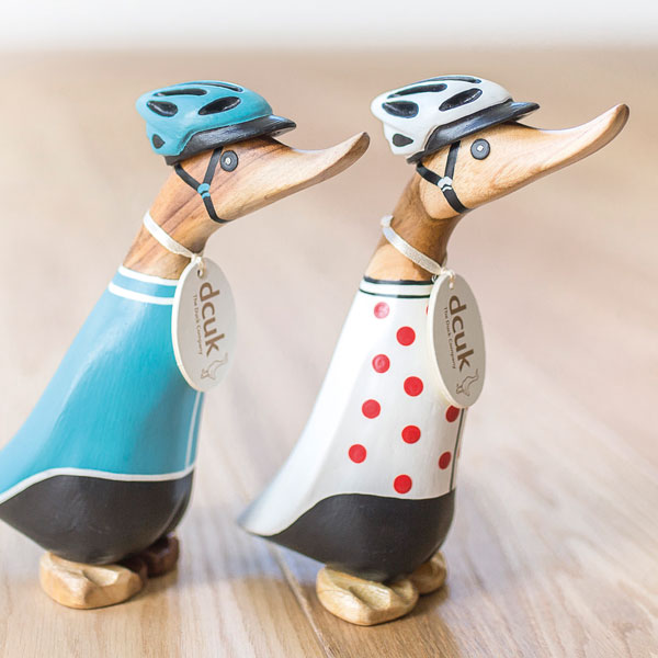 DCUK Wooden Cyclist Duckling with Personalisation options