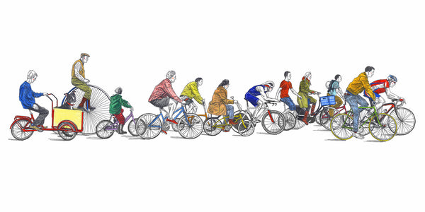 Cyclists by David Sparshott - FREE UK DELIVERY