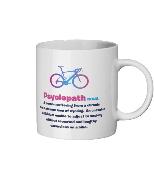 Diagnosis Psyclepath Ceramic Mug Pink Design