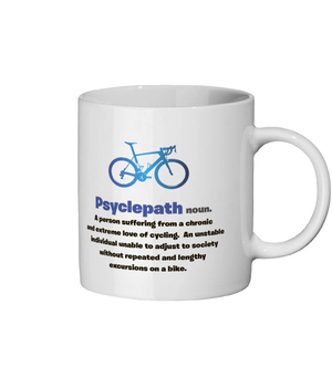 Diagnosis Psyclepath Ceramic Mug Blue Design