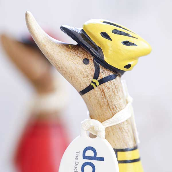 DCUK Wooden Cyclist Dinky Ducks with Personalisation options