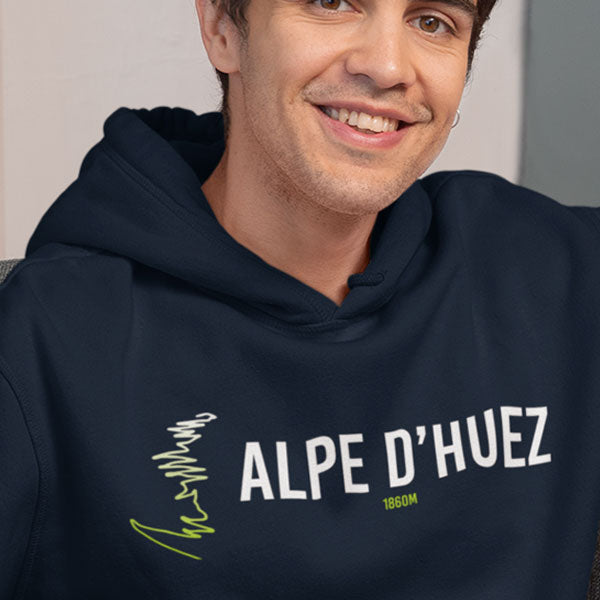 Alpe D'Huez Unisex Organic Cotton Hoodie - colour options available