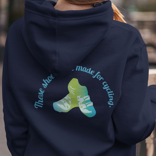 Shoes Made for Cycling Organic Cotton Unisex Pullover Hoodie - Front & Back