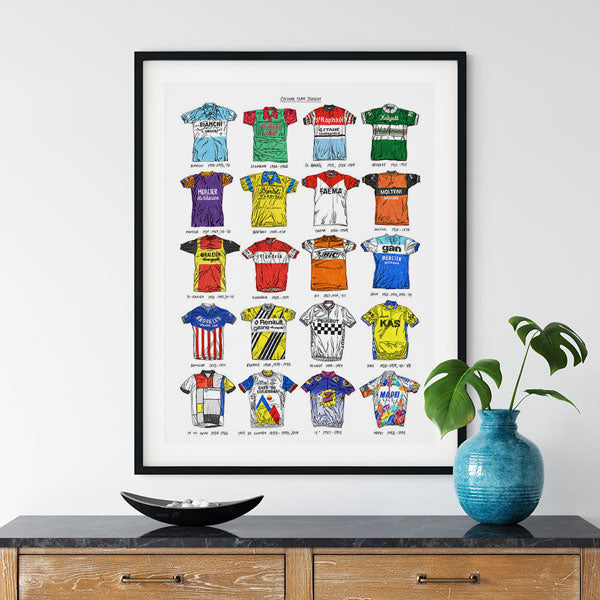 Cycling Team Jersey - Special Edition by David Sparshott - FREE UK DELIVERY