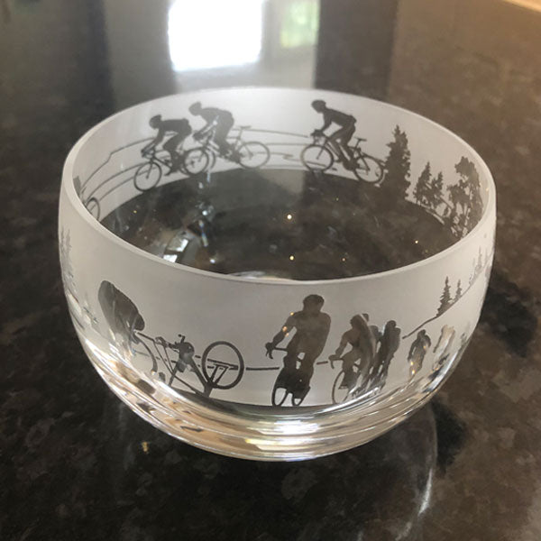 Milford Collection Cyclist Crystal Bowl in Gift Box