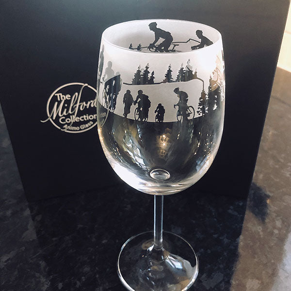 Milford Collection Cyclist Wine Glass in Gift Box