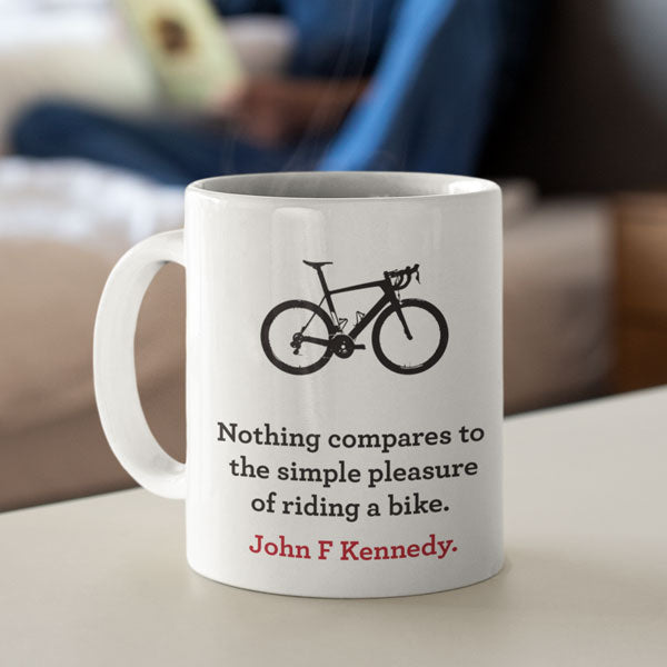 Simple Pleasure of Riding a Bike Ceramic Mug