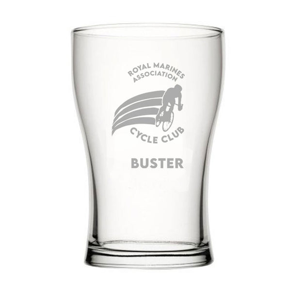 Personalised RMACC Bob Fully Toughened Beer Pint Glass 20oz (57cl)
