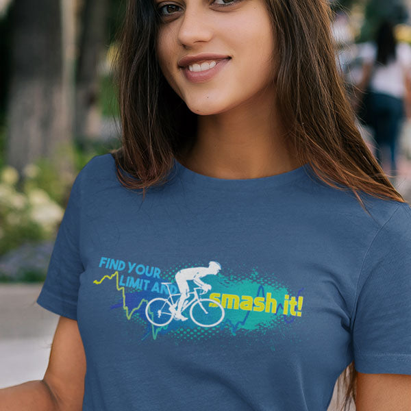 Find Your Limit Blue & Green - Ladies Premium Cotton T-Shirt