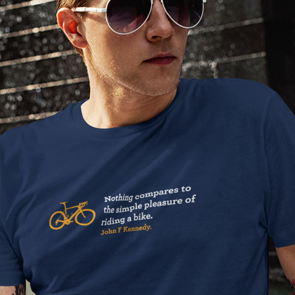 Simple Pleasure of Riding a Bike - Organic Cotton T-shirt