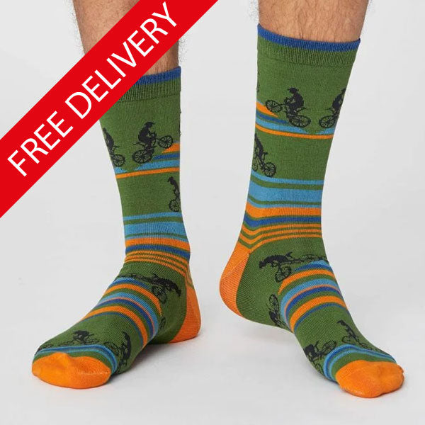 Men's Uphill Cyclist Bamboo Socks - size 7-11