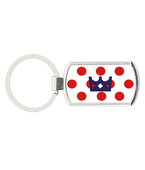 King of the Mountain - Oblong Metal Keyring
