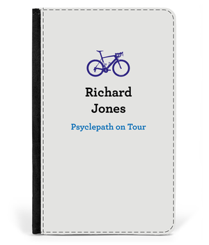 Personalised Passport Cover Faux Leather - Psyclepath On Tour