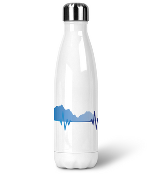 Premium Stainless Steel Water Bottle - Elevation Vs Heartbeat - Cycling
