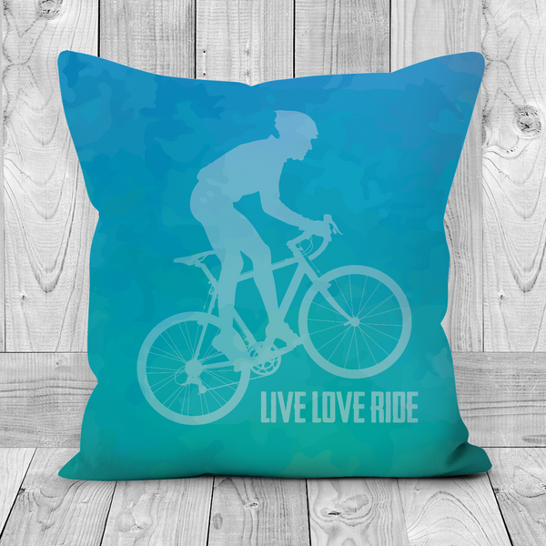 Sofa Cushions - Live Love Ride - Teal