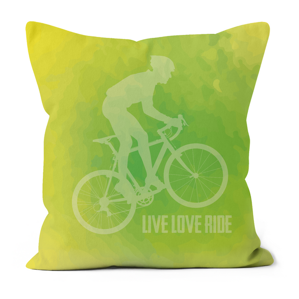 Sofa Cushions - Live Love Ride - Lime