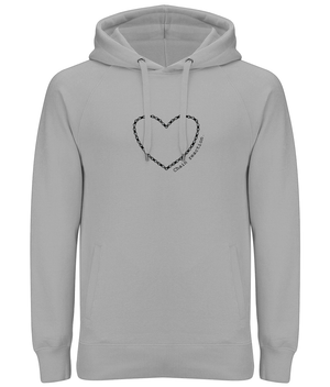 The Love of Cycling Chain Reaction Unisex Organic Cotton Pullover Hoodie