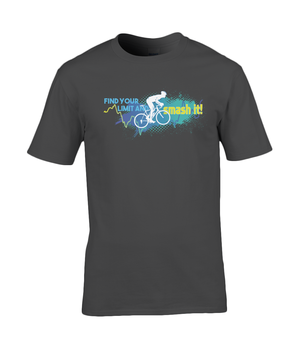 Find Your Limit - Premium Cotton T-Shirt - Blue & Green
