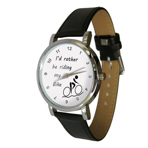 Leather Watch - I'd rather be cycling
