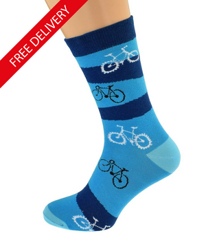 Cyclist Bike Designs on Cotton Socks
