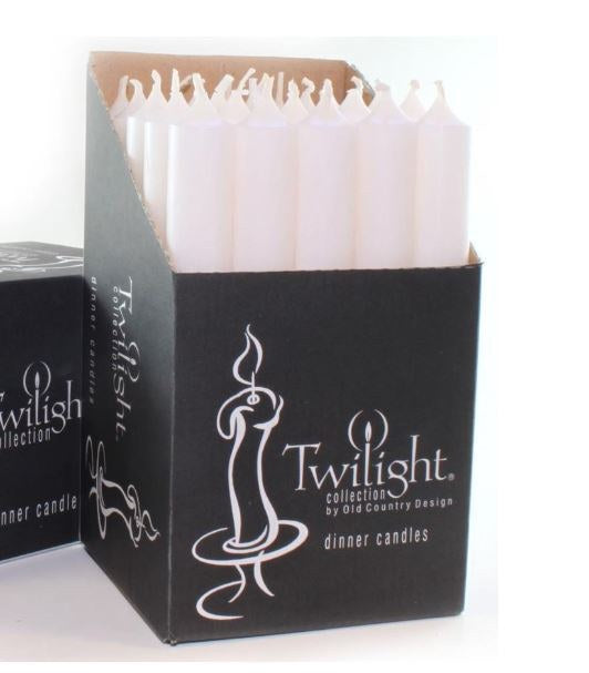 Twilight Taper White Candle
