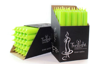 Twilight Taper Lime Candles