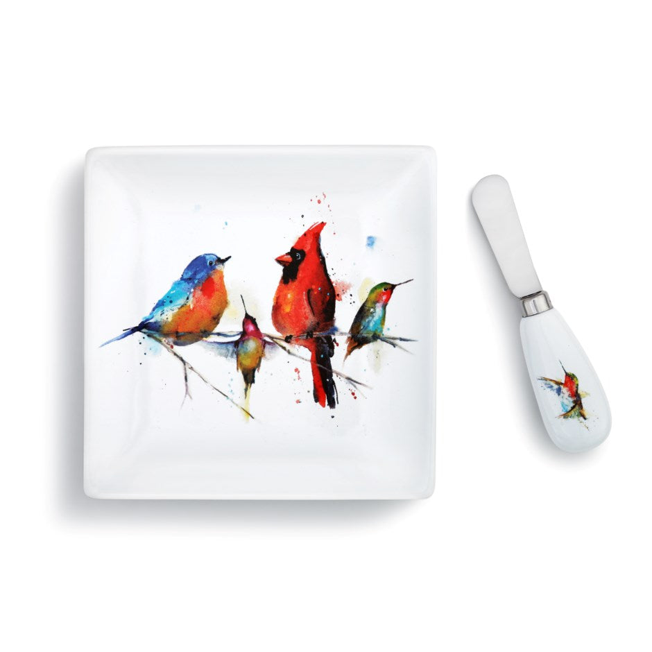 Little Birds Plate with Spreader