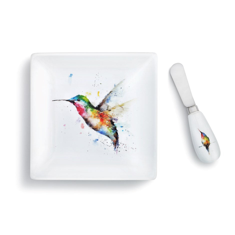 Hummer and Flower Plate with Spreader