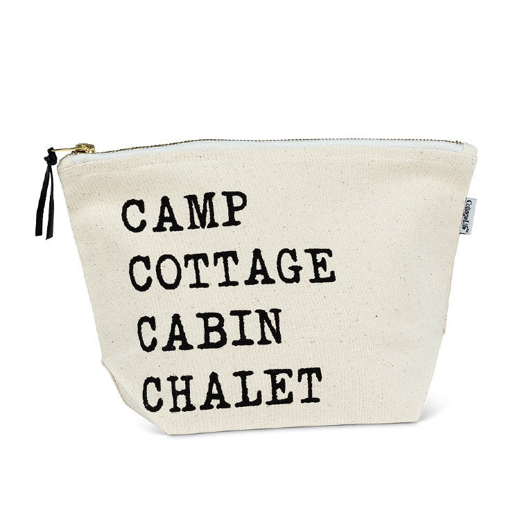 Camp Cottage Zipper Pouch