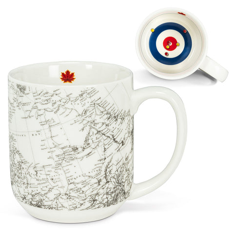 Canada Map and Curling House Mug