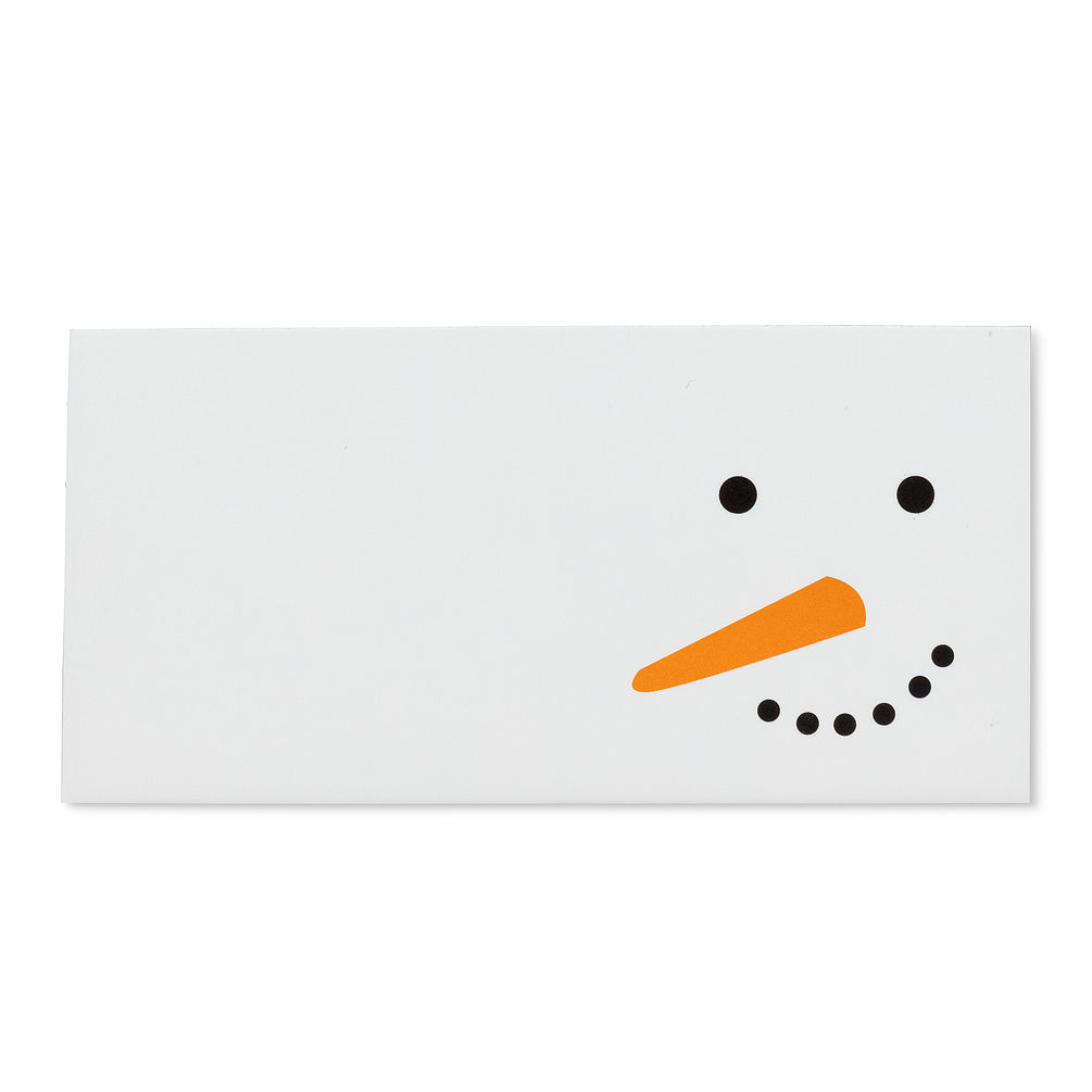 Snowman Face Placecards set of 24