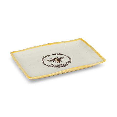 Bee with wreath Rectangular Platter
