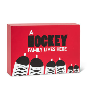Hockey Family Lives Here - Block